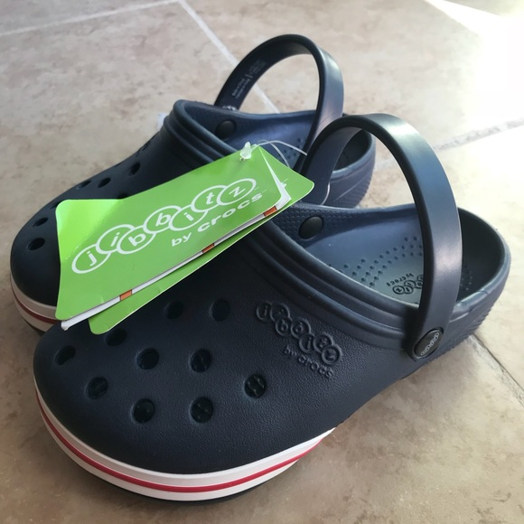 "jibbitz Other - jibbitz by crocs crocs  clog in navy kids 12"" size"